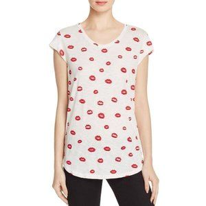 Soft by Joie Red Lips T-Shirt Size S